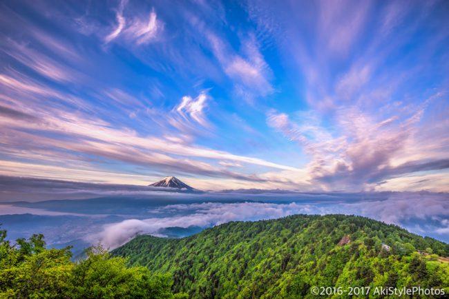 Photomatix Pro 6でHDR合成した三ツ峠からの富士山