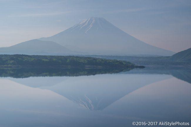 本栖湖の新緑が綺麗だった。千円札の富士山スポット「中ノ倉峠展望台」