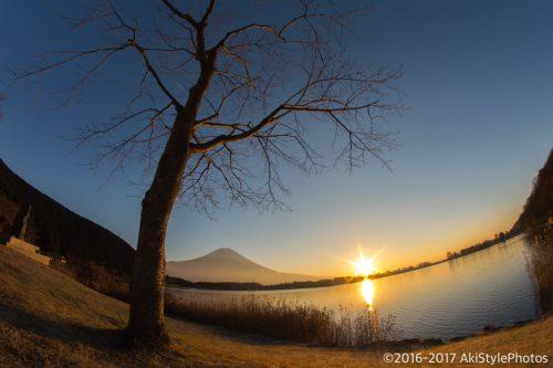 田貫湖の日の出と富士山