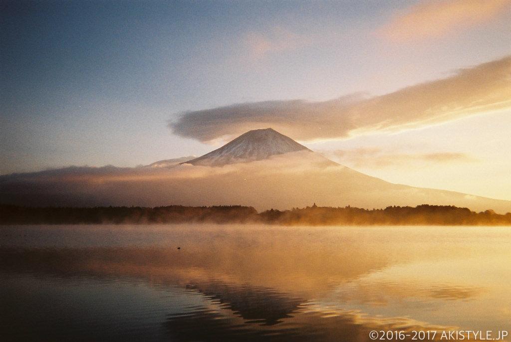 「写ルンです」で撮影した笠雲と富士山