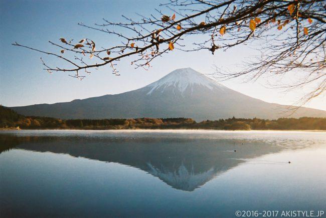 「写ルンです」で撮影した田貫湖からの富士山