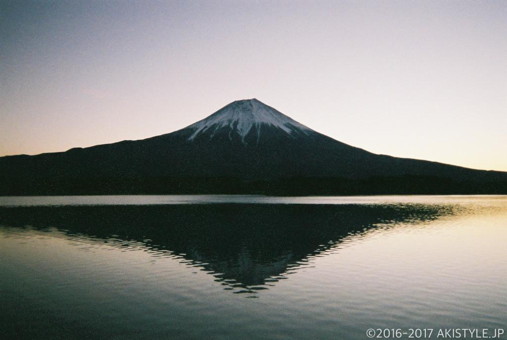 「写ルンです」で撮影した逆さ富士