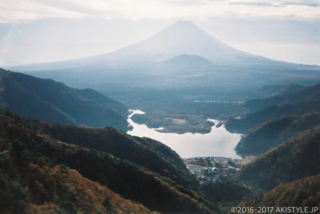 「写ルンです」で撮影した精進峠からの富士山