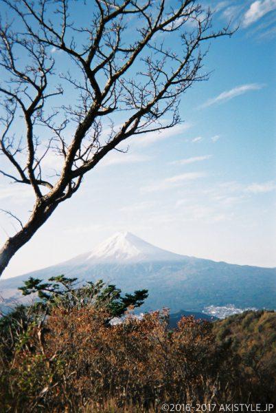 「写ルンです」で撮影した三ツ峠山からの富士山
