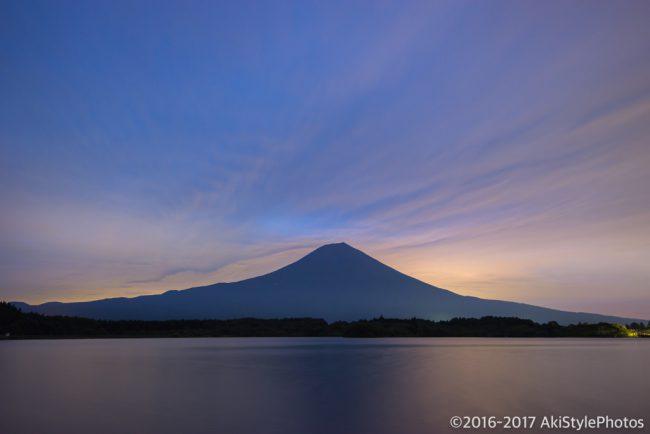 田貫湖からの富士山と夜明け