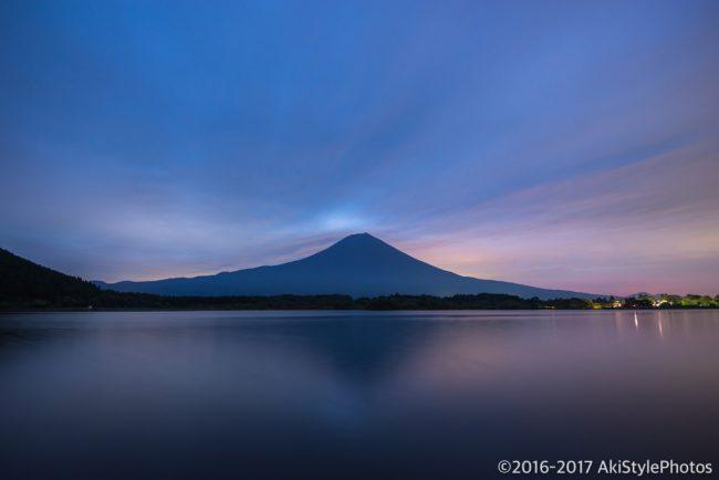 田貫湖からの朝焼け