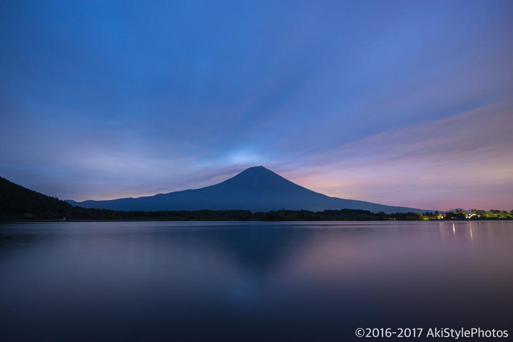 田貫湖からの富士山と朝焼け
