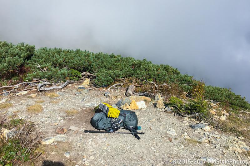 北岳山荘のテント場