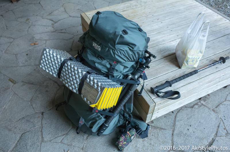 テント泊装備を持って広河原へ