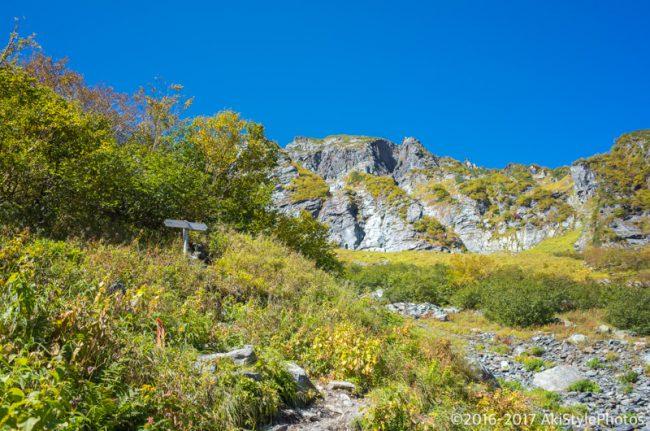 左俣ルートから見る北岳