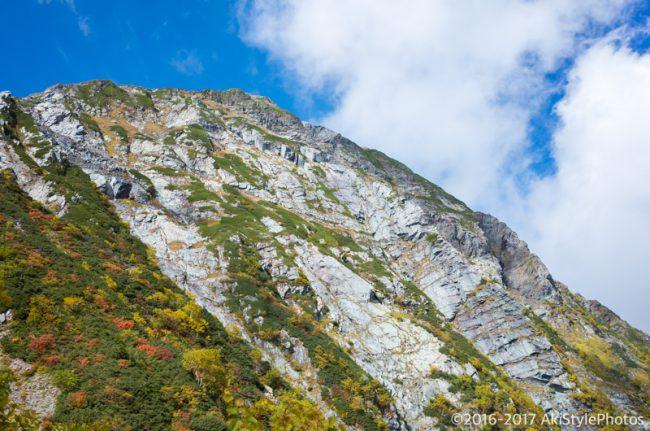 八本歯のコルから見る北岳