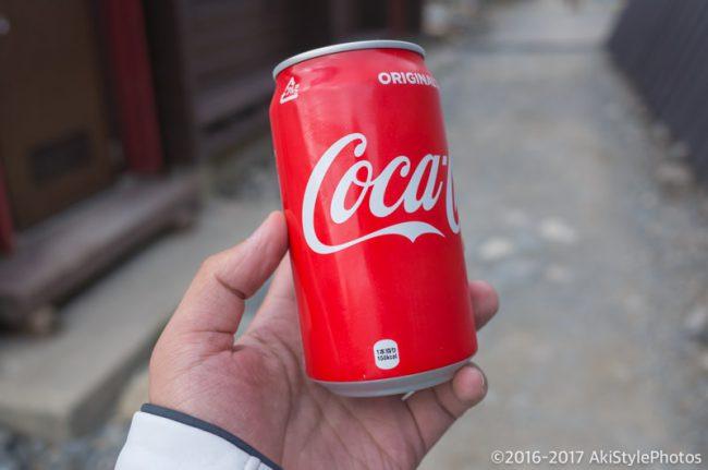 北岳山荘の自販機のコーラ