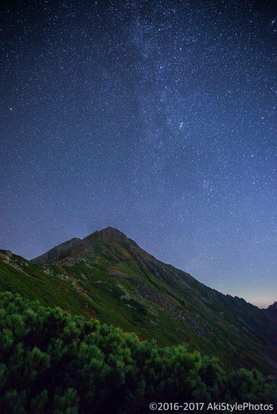 北岳山荘から見る星空