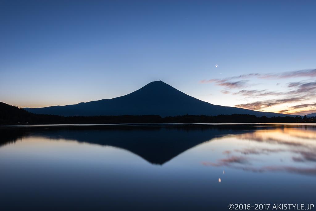 田貫湖の夜明けとリフレクション