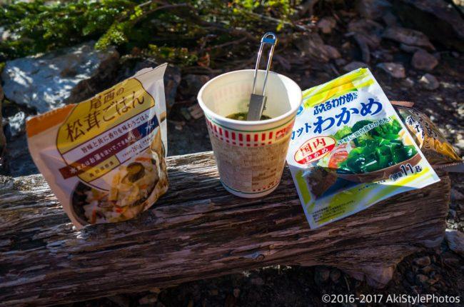 北岳テント泊の食事