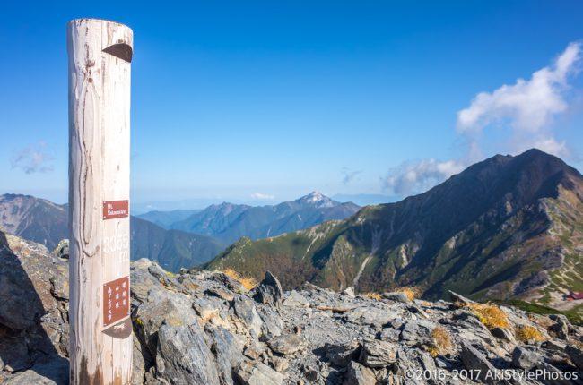 中白根山から見る北岳