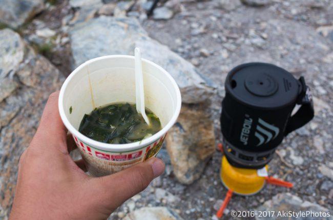 北岳山荘でテント泊と食事