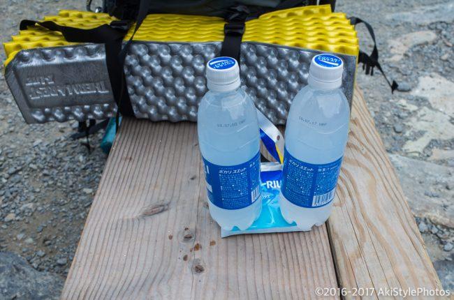 汲み水と粉末アクエリアス