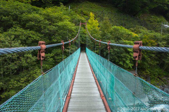 北岳の吊橋
