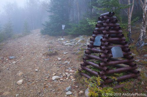杖立峠から火事場跡