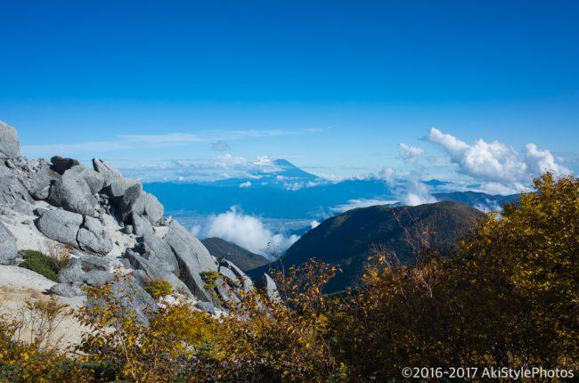 薬師岳から見る富士山