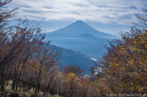 三方分山から見る富士山と紅葉