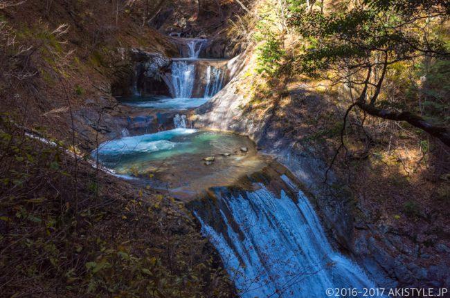 西沢渓谷の七ツ釜五段の滝