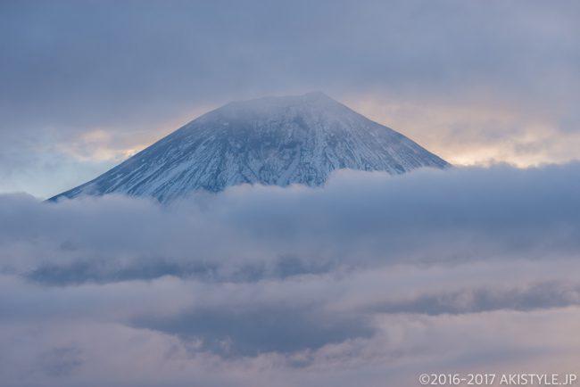 田貫湖からの笠雲と富士山