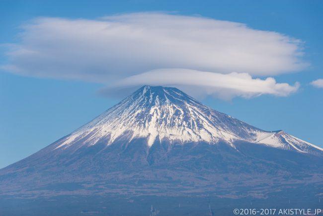 笠雲と富士山