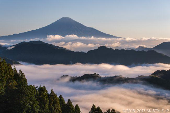 清水吉原からの富士山と雲海