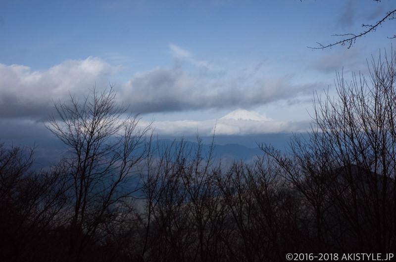 竜爪山から見た富士山