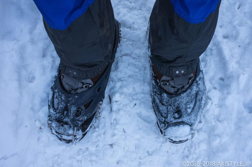 キネシスで雪山ハイキング