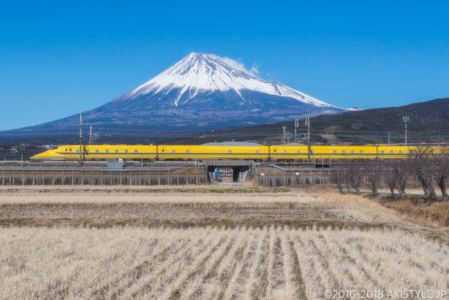 富士市から富士山とドクターイエロー