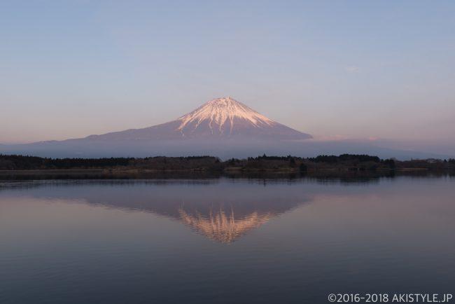 田貫湖の日没と富士山
