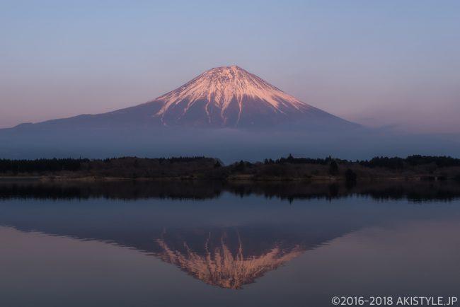 田貫湖からの紅富士