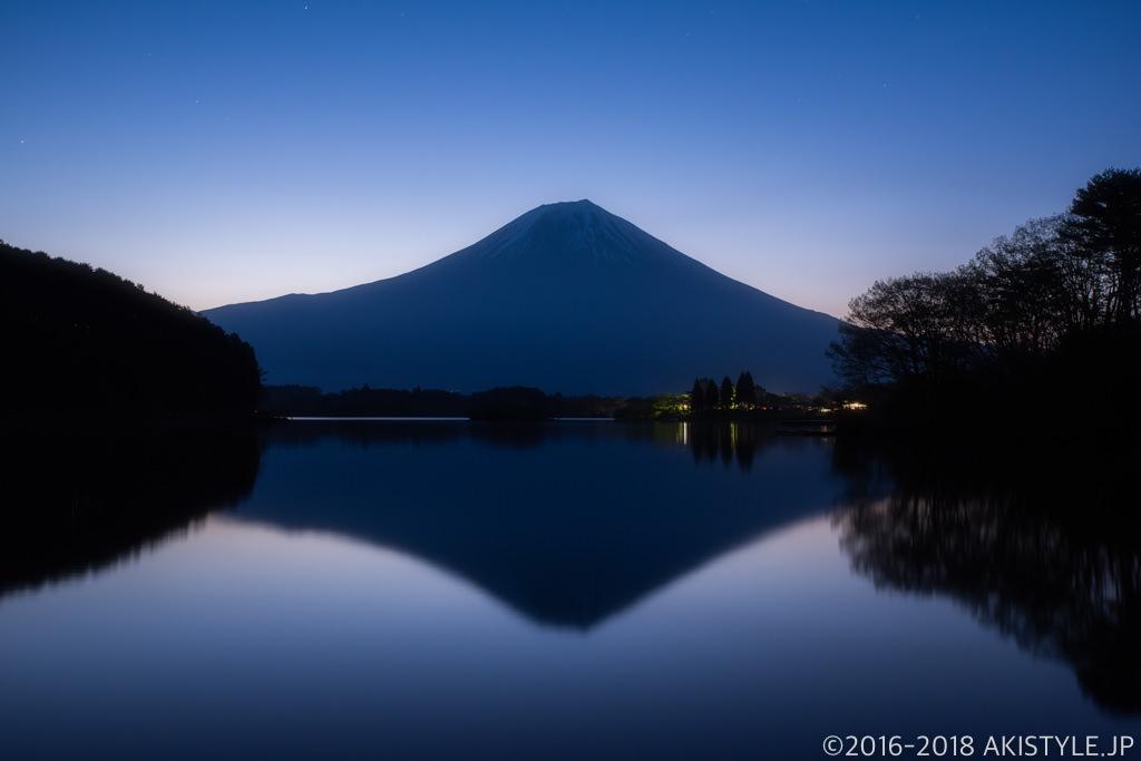 田貫湖からの逆さ富士