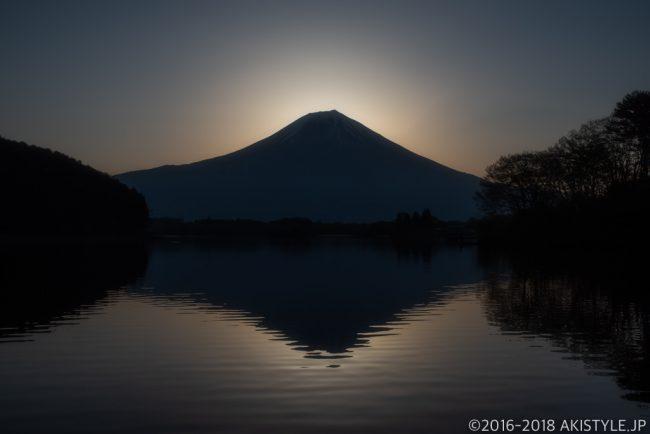 田貫湖の日の出直前の逆さ富士