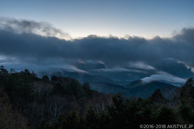 七面山。敬慎院からの雲海