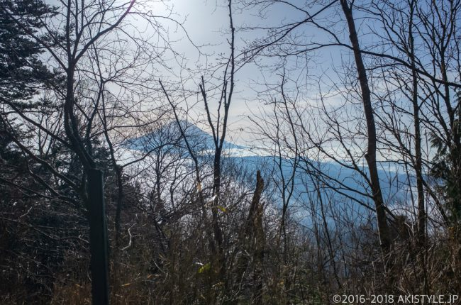 七面山登山道