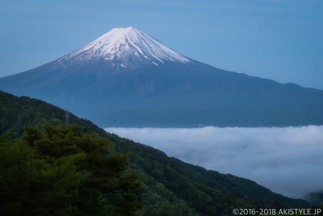 天下茶屋から見た富士山と雲海