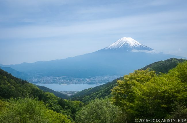 北斎の描いた天下茶屋からの逆さ富士