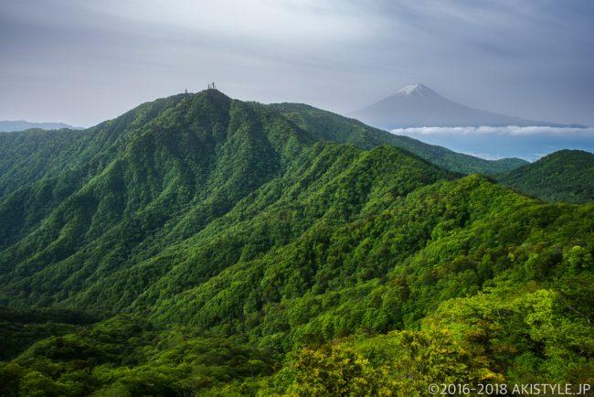 本社ヶ丸から見た富士山