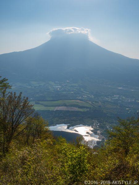 長者ヶ岳から見る富士山と田貫湖