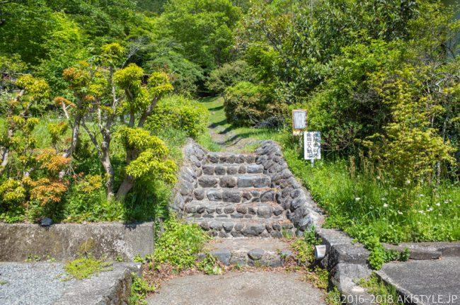 田貫湖キャンプ場の登山口