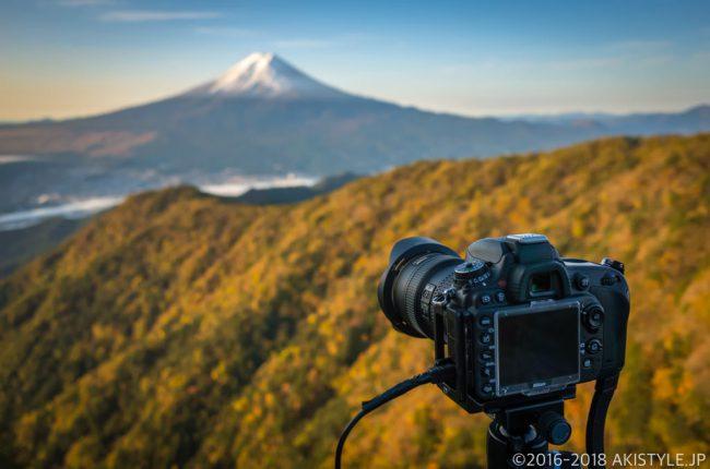 SIRUI自由雲台K-10Xと富士山