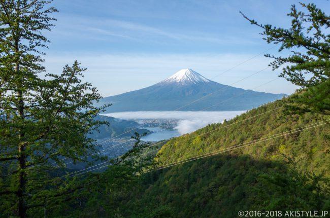 御坂山からの富士山と雲海