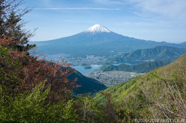 黒岳から見る河口湖と富士山