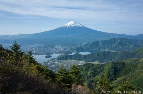 新道峠からの富士山