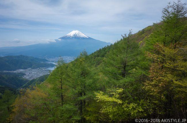 御坂山からの富士山と河口湖