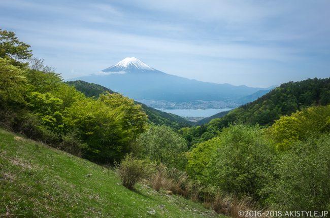 天下茶屋からの逆さ富士